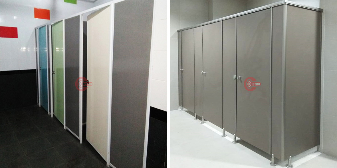 cubicle toilet PVC