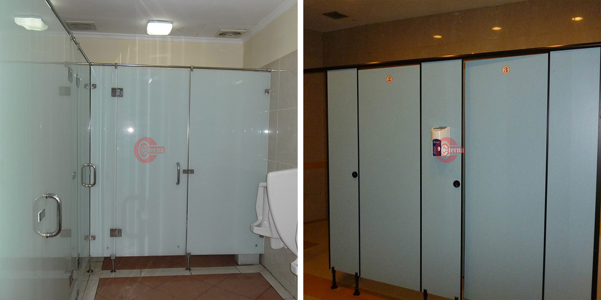 cubicle toilet phenolic glass
